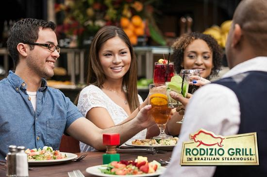 Rodizio Grill group dining.