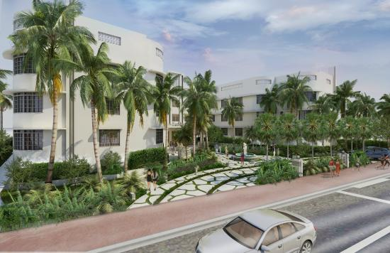 Hall Hotel South Beach Exterior Rendering