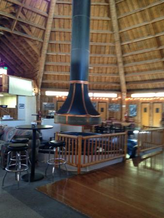 Teton Teepee Lodge: Massive center fireplace