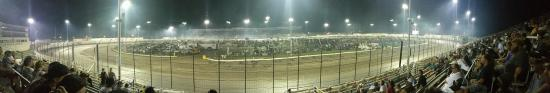 Knoxville, IA: View from the back straight.