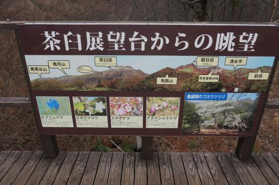 Mt Jeans Nasu : 茶臼展望台の案内板