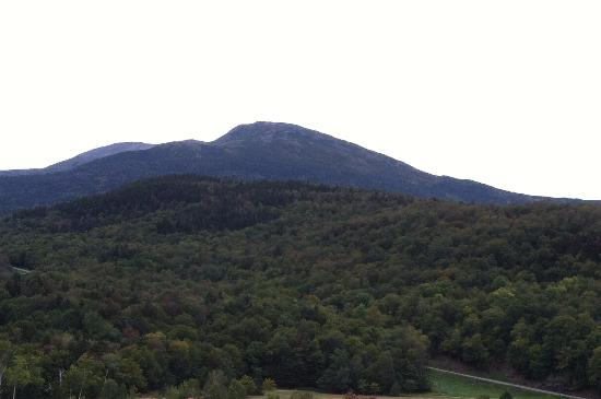 Great Glen Trails Outdoor Center: The view of Mt. Washington while enjoying lunch