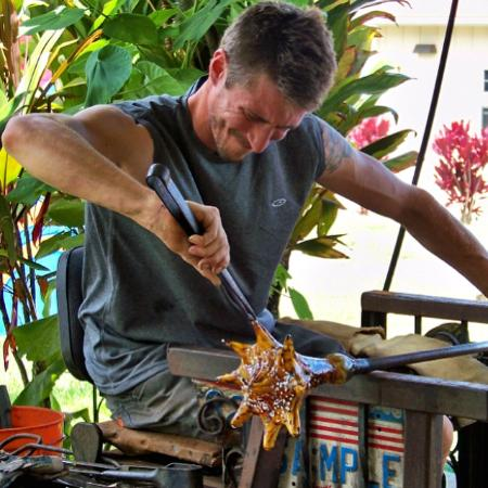 Live glassblowing demonstrations every Monday and Wednesday from 10am - 1pm in our open air glas