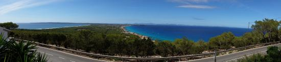 Restaurante El Mirador: View from El Mirador Restaurant on Formentera island