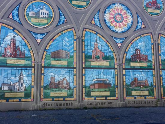 Portsmouth Floodwall Mural: Historic Churches Mural Part 70
