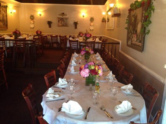 Verona Ristorante Rehearsal Dinner Party Fine Dining Italian Cuisine Bar Farmingdale Ny