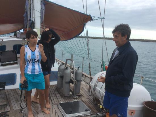 Galapa Diving - Yacht Nautilus Private Tours: En el barco