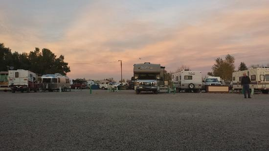 Fort Caspar Campground: Stadium Parking @ Sunset