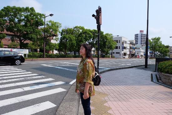 Wakayama Daiichi Fuji Hotel : ข้ามถนนจากหน้าสถานีวะกะยามาชิ