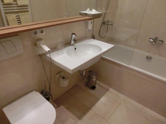 Park Hotel Am Lindenplatz: 簡素な浴室