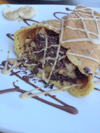 Agios Nikolaos, กรีซ: Choco Kebab with Bananas and Biscuit