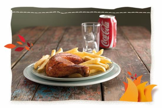 Mount Edgecombe, Sydafrika: Nando's Quarter Chicken and Chips