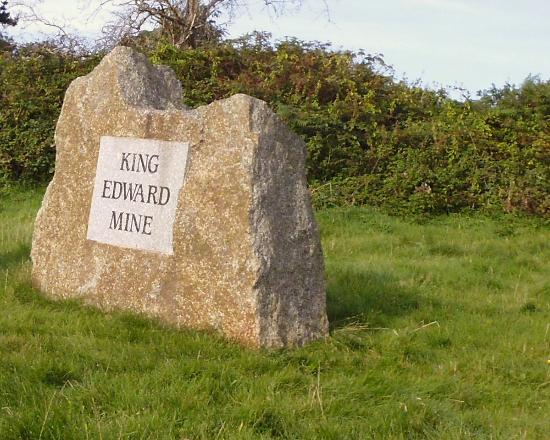 King Edward Mine Museum: Cornish granite