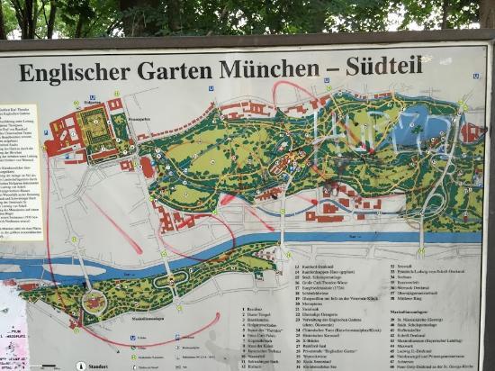 english garden map picture of english garden munich tripadvisor. Black Bedroom Furniture Sets. Home Design Ideas