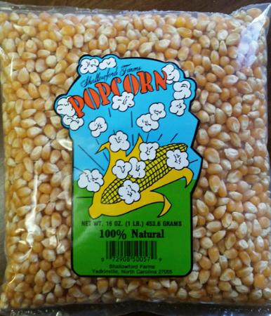Yadkinville, NC: 1 lb. Bag Shallowfordfarms Popcorn