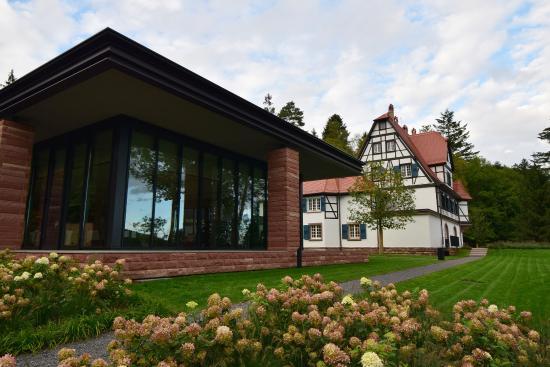 Ansicht hotel photo de restaurant villa rene lalique for Hotels wingen sur moder