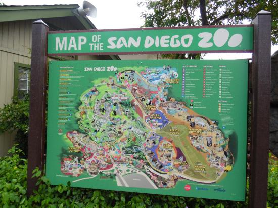 Map Picture Of San Diego Zoo San Diego TripAdvisor - San diego zoo map