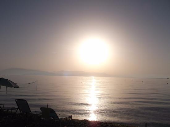 Scheria Hotel: Sunrise on the coast of Scheria beach hotel