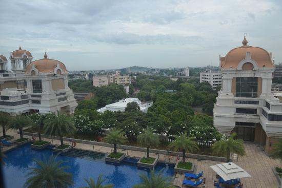 View of the swimming pool from the room picture of itc Itc grand chola chennai swimming pool