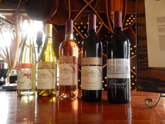 Chamard Vineyards: Wines that were available for the tasting