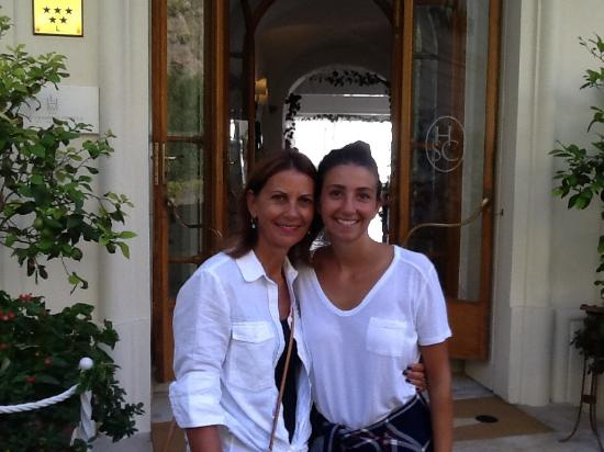 Santa Caterina Hotel: My niece and I on our last day