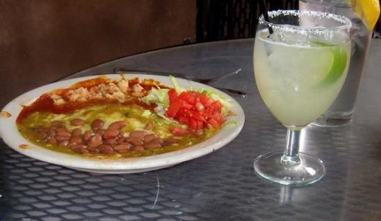 Green Chile Chicken Enchilada Picture Of La Choza Santa Fe