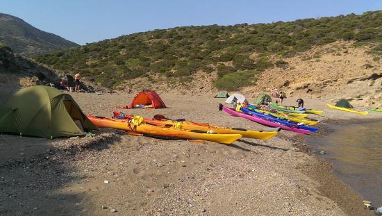 Sea Kayak Milos: On the beach