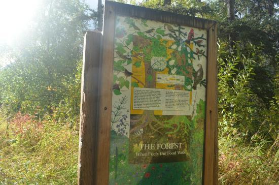 Eagle River Nature Center: interpretive signage