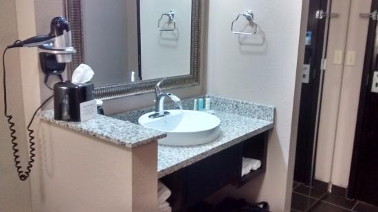 Bathroom Sinks Okc bathroom sink area - picture of comfort suites fairgrounds west