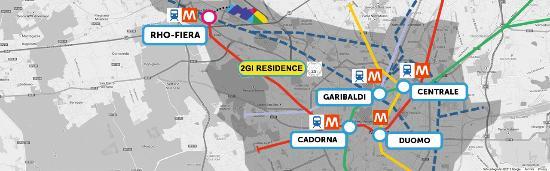 Residence 2Gi Ajraghi: Mappa da e per Expo Milano 2015