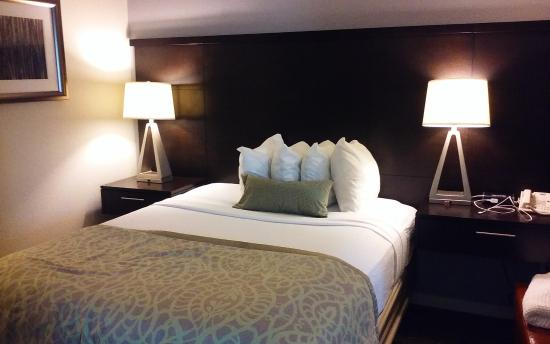 Staybridge Suites Chatsworth: Wood 'wall' helps with sound