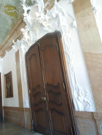 Neue Bischofliche Residenz (New Episcopal Residence): Interior detail work around door frame