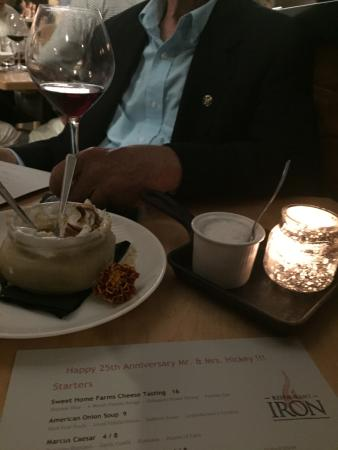 Dessert at Iron