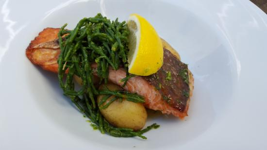 St Mawes, UK: Sea Trout On New Potatoes And Samphire