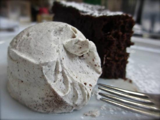 Chocolate Cake with Cinnamon Ice Cream, Olsen - Picture of Olsen ...