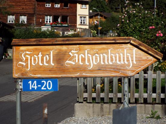 Hotel Schonbuhl: sign of the hotel