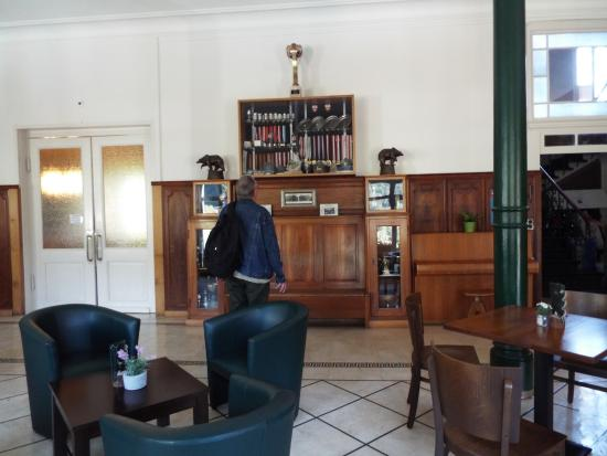 Hotel Schonbuhl: Looking at the Skiing Trophies of the owner