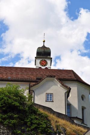 Wassen, Schweiz: Naast het Hotel