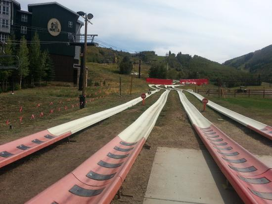 Park City Mountain Resort: Four different tracks for the Alpine slide