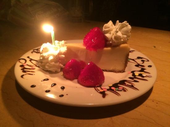 Strange Birthday Cheesecake Picture Of The Cheesecake Factory Richmond Personalised Birthday Cards Beptaeletsinfo