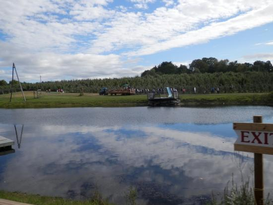 Stow, MA: Pond, orchard, and hayride