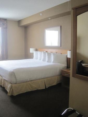 Days Inn & Suites West Edmonton: Comfy king bed