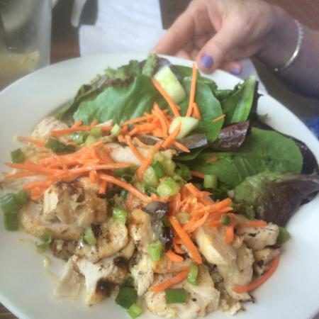 Local Ice Cream: Salad with Chicken