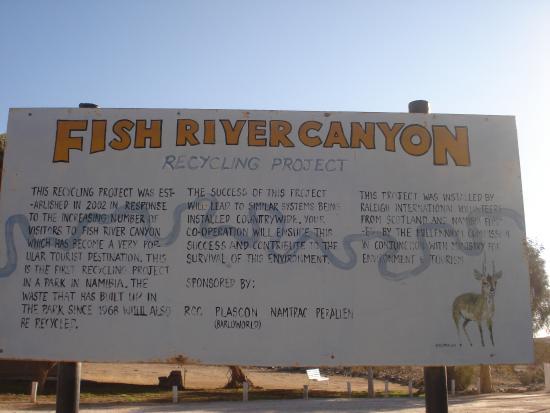 Fish River Canyon Nationalpark : entrance