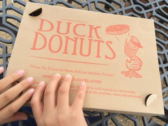 Duck Donuts: The box! They have a really cute mascot