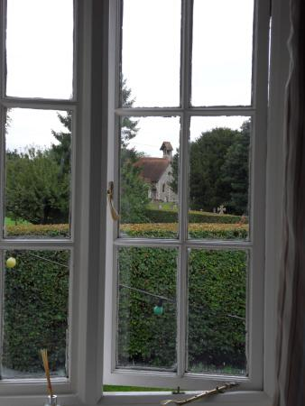 Itchen Abbas, UK : View from the window
