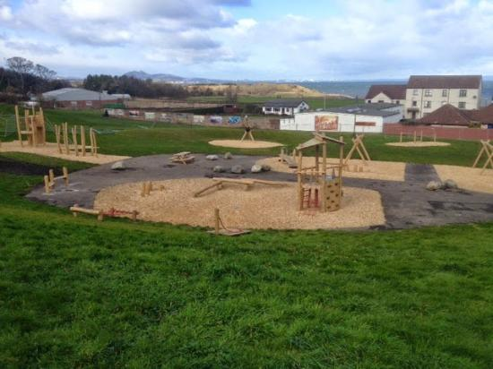 Prestonpans, UK: A different view of the playpark