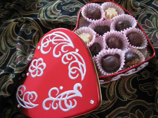 Indian Brook, Canada: Colouratura Hand Crafted Chocolates are made on the premises daily.