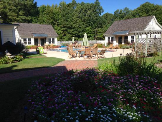 George Brooks House B&B: Pool & Gardens