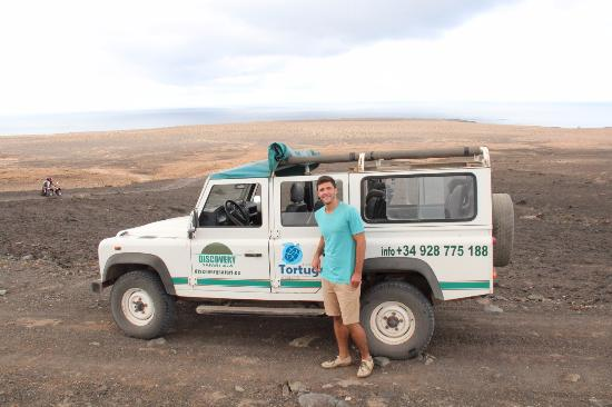 my husband with the jeep - picture of discovery safari